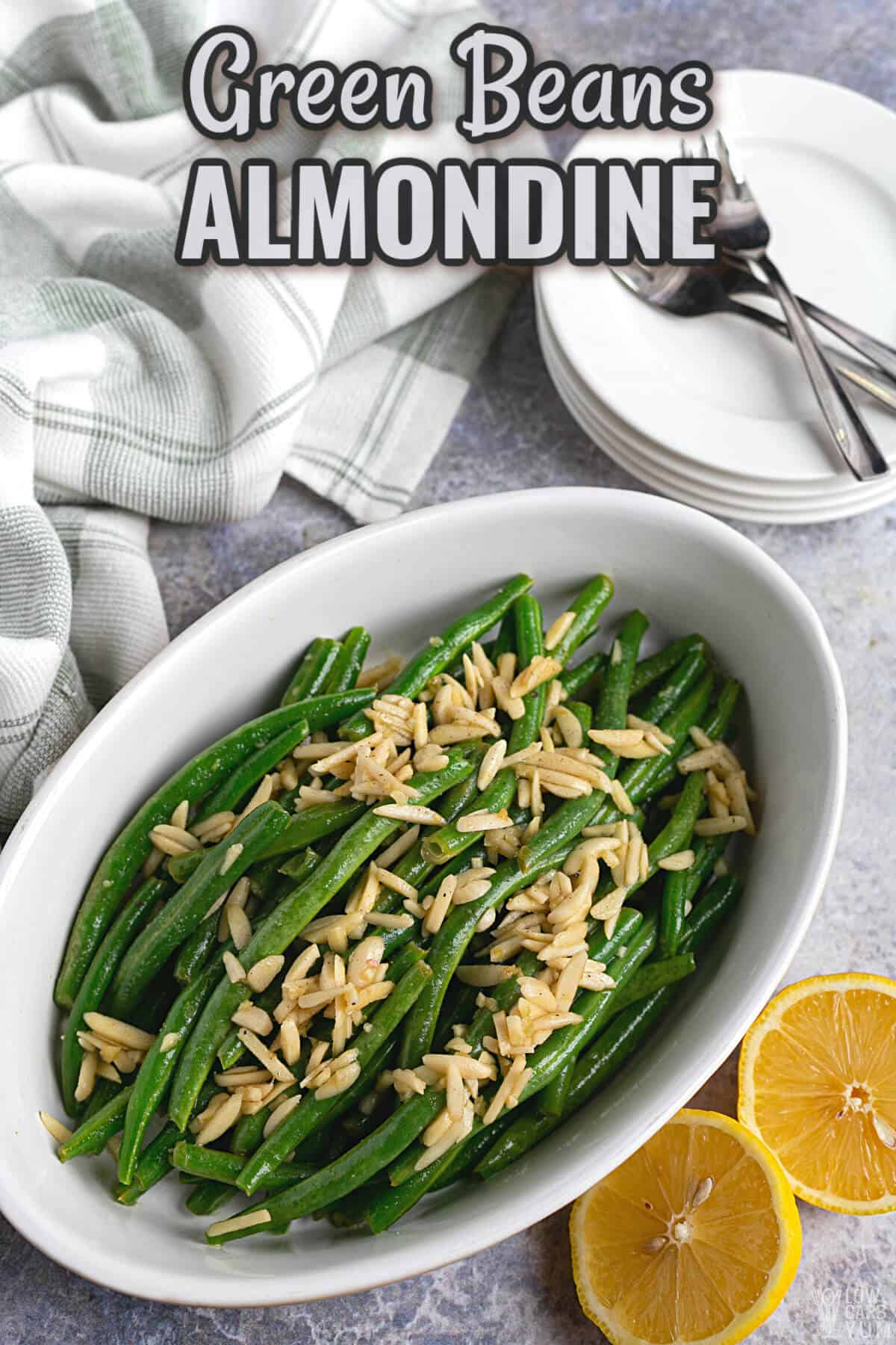green beans almondine recipe cover image