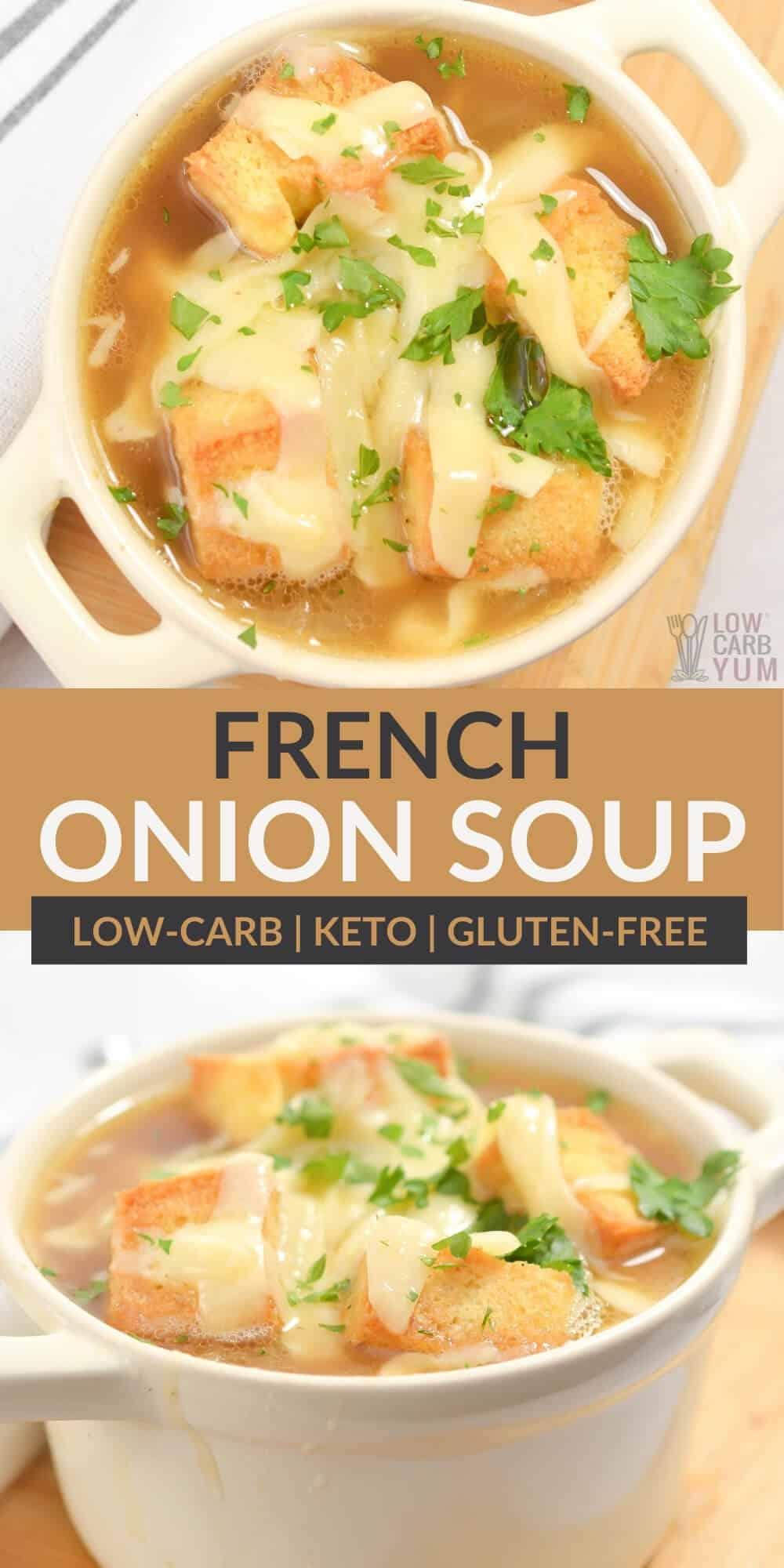 keto french onion soup pinterest image