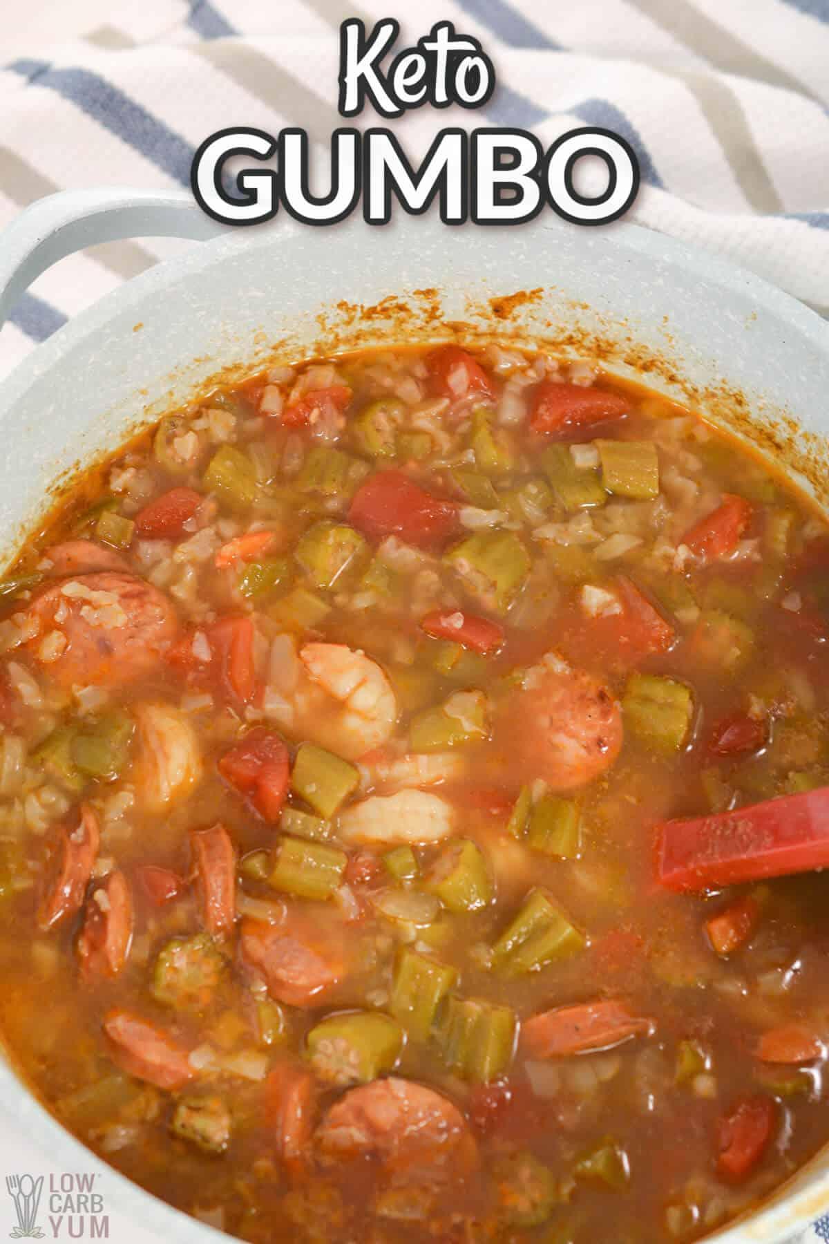 keto gumbo recipe cover image