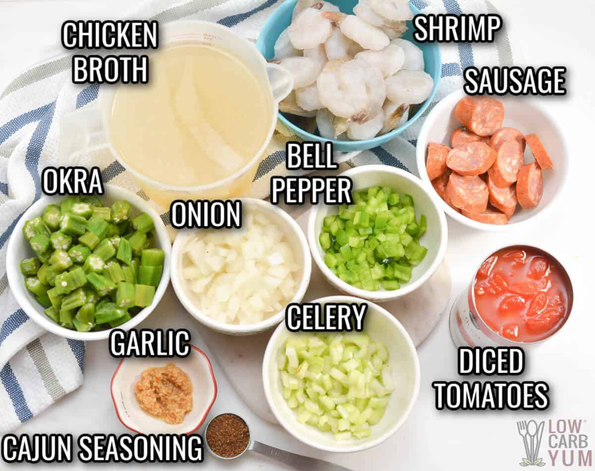 keto gumbo ingredients