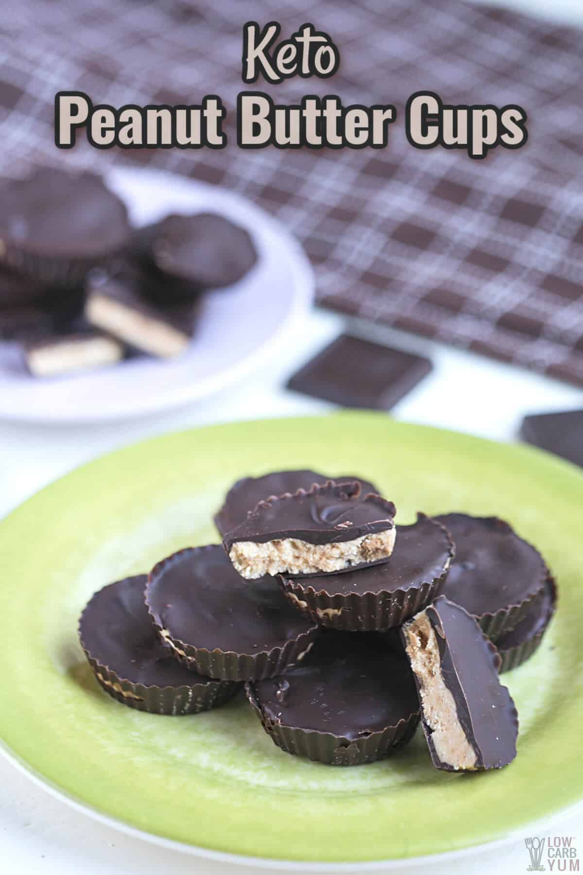 keto peanut butter cups cover image