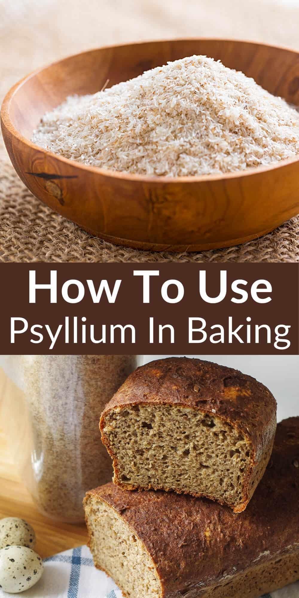 how to use psyllium in baking pinterest image