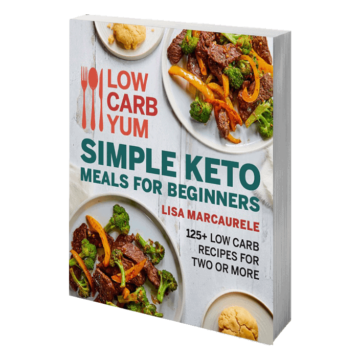 simple keto meals for beginners 3D book image