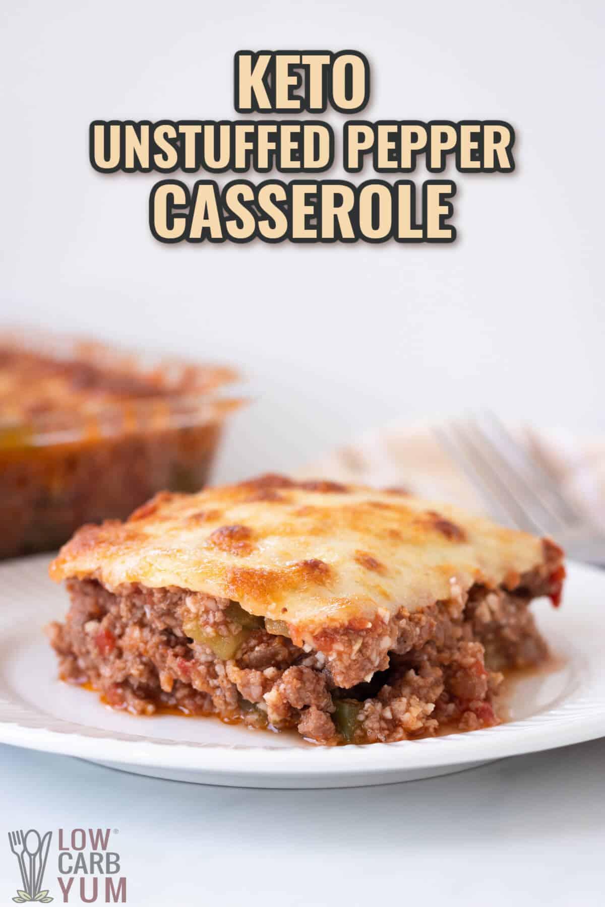 unstuffed pepper casserole cover image