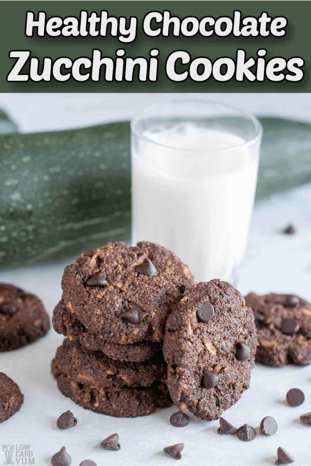 healthy chocolate zucchini cookies