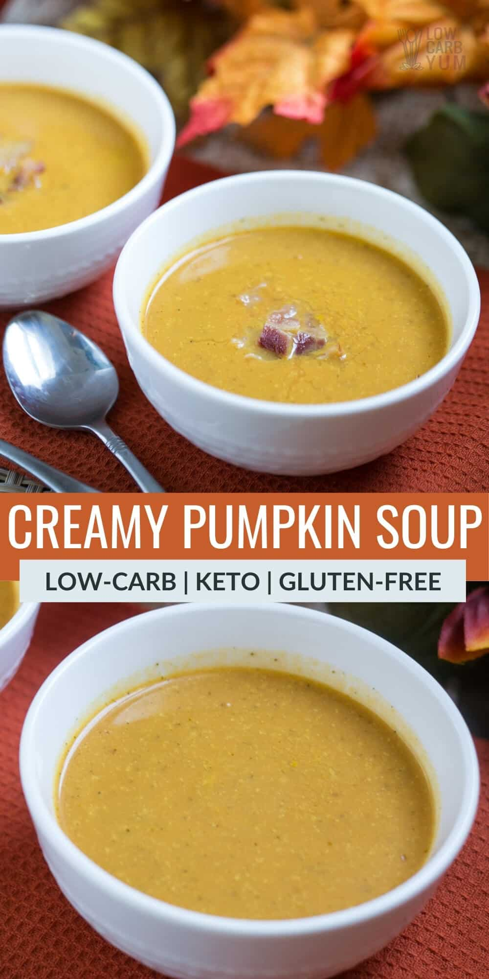 creamy pumpkin soup pinterest image
