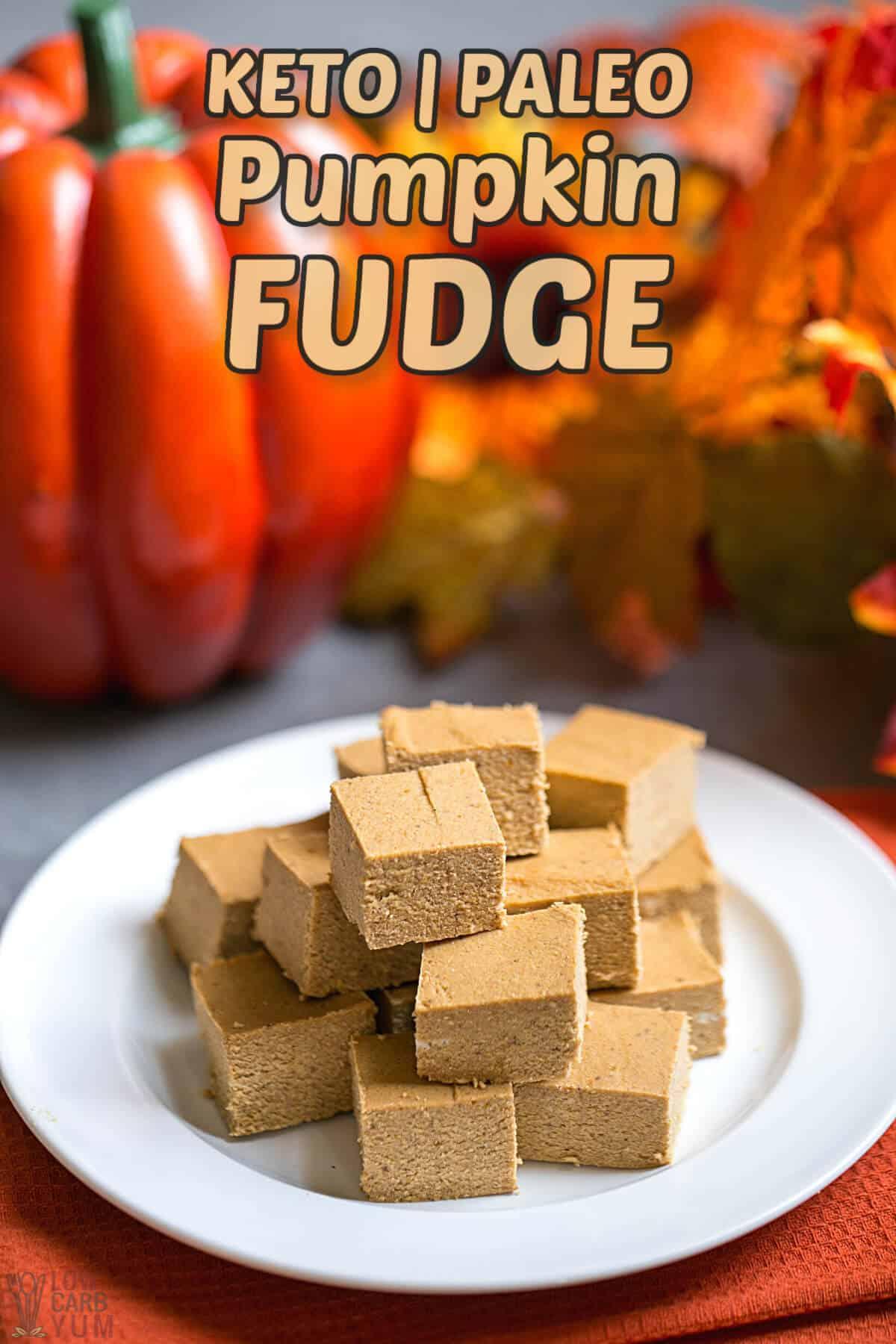 keto paleo pumpkin fudge recipe cover image